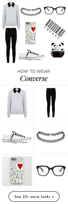 """RaNdOmNeSs"" by liv-grise on Polyvore featuring Edit, 7 For All Mankind, Forever 21, Converse and Tony Moly"