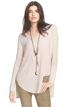Free People 'Ventura' High/Low Thermal Top | Nordstrom