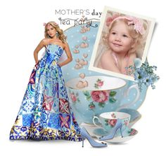 """""""Mother's Day Tea Party"""" by giovanina-001 ❤ liked on Polyvore featuring art"""