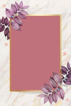 Rectangle foliage frame on white marble background vector Framed Wallpaper, Flower Background Wallpaper, Flower Backgrounds, Background Patterns, Wallpaper Backgrounds, Iphone Wallpaper, Metal Background, Vector Background, Instagram Frame