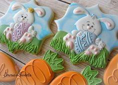 Easter Cookies No Bake Sugar Cookies, Iced Cookies, Cute Cookies, Easter Cookies, Holiday Cookies, Easter Treats, Easter Cookie Recipes, Easter Biscuits, Easter Bunny Cake