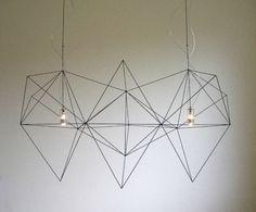 """Super cool minimalist """"prism"""" chandelier from Nathalie Dewez."""