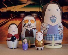 The Big Lebowski Matryoshka Dolls by bobobabushka on Etsy