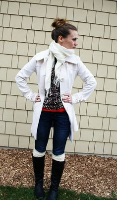Another way to wear leopard and red. #leopard + #winterwhite + #red