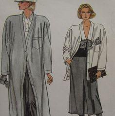 Uncut Pattern Misses Coat Jacket Skirt Pants Size 12 14 16 Vogue 9201