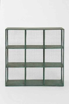 Industrial Wire Shelf- Green One