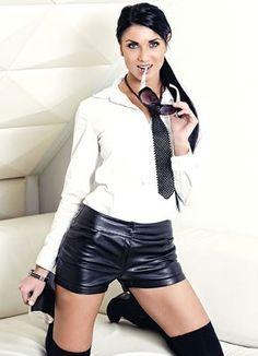 Secretaresse hotpants