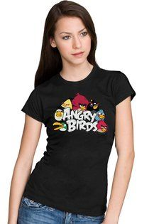 awesome Angry Birds Nest Juniors Womens T-shirt