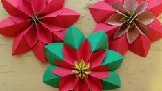 Origami Dersleri - Poinsetia Çiçeği Tasarımı - Japon kağıt katlama sanatı (Origami) - teknikleri, örnekleri ve ipuçlarını videolu anlatımı. Kağıttan poinsetia çiçeği yapımı