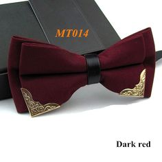 Men's Bow Ties Boutique Metal Groom Butterfly Solid Classic