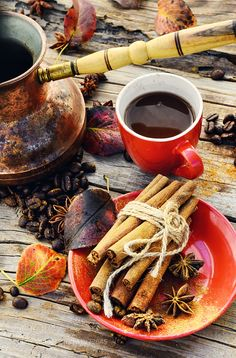 Pic: Coffee in the autumn season