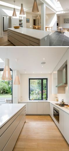 Kitchen Design Idea - Cabinet Hardware Alternatives // Kitchen Design Idea - Cabinet Hardware Alternatives // Include a recessed groove in the design of your kitchen cabinets.