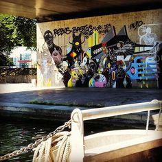 Croisière sur le #canalsaintdenis, l'occasion de découvrir le #streetart vu du…