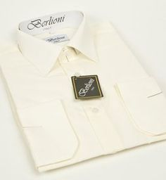 Details about NEW MENS IVORY LONG SLEEVE DRESS SHIRT ALL SIZES ...