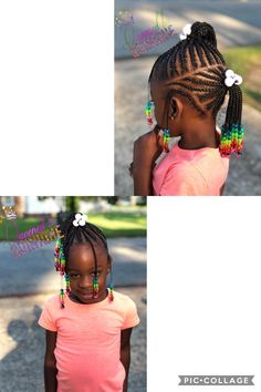 Kids Braid Style - Juju's Hair - Baby Hair Toddler Braided Hairstyles, Little Girl Braid Hairstyles, Black Kids Hairstyles, Baby Girl Hairstyles, Little Black Girls Braids, Braids For Black Hair, Kid Braid Styles, Hair Styles, Braids For Kids