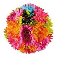 """Mit Flower Power in den Sommer!  Das verspielte Thema """"#Hippie"""" ist dieses Jahr ein großer #Dekorationstrend. Bunte #Blumen, #Gräser und die Motive der 70er Jahre symbolisieren Leichtigkeit und Lässigkeit. Mit unseren passenden Flower-Power #Dekorationsangeboten transportieren Sie genau das Feeling für Ihr #Schaufenster oder Ihren Innenraum.  Ein fröhliches #Dekorieren wünscht #abama - the deco company #Gerberaköpfe #Gerberakugel #Schmetterlinge…"""