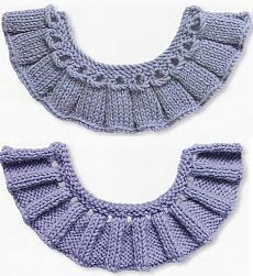 Discover thousands of images about Knitting ruffles knitting. Baby Knitting Patterns, Knitting Stiches, Baby Hats Knitting, Crochet Blanket Edging, Knit Edge, Knitted Necklace, Knitted Gloves, Crochet Clothes, Crochet Lace