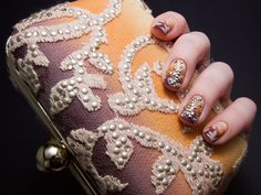 Chalkboard Nails: The Tadashi Shoji Nail Art Challenge - Final Clutch Design and Matching Nail Art (+ Giveaway) Wedding Nails For Bride, Bride Nails, Chalkboard Nails, Different Types Of Nails, Nail Patterns, Pattern Nails, Tadashi Shoji, Art Challenge, Nail Artist