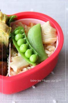 トイロイロ ***happy color life***-たけのこごはんのお弁当
