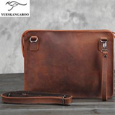 44.34$  Buy now - http://alix2q.shopchina.info/1/go.php?t=32814461307 - YUESKANGAROO  Brand  Crazy horse leather bag business iPad shoulder bag bag leather briefcase envelope bag  004  #buyonline