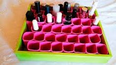 Resultado de imagen para organizador de pinturas de uñas