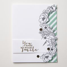 We just love the creative use of the Timeless Love stamp set.