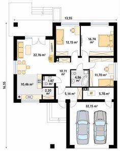 Kiwi 3 projekt domu - Jesteśmy AUTOREM - DOMY w Stylu Kiwi, Villa, Floor Plans, March, Houses, Home, Villas, Mars