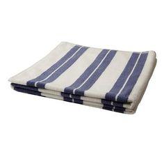 Asciugamano + telo bagno righe blu