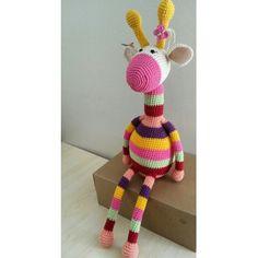 35 cm boyunda renkli zürafa için dm den iletişime geçebilirsiniz ✌ #amigurumibebek #amigurumidoll # - atolyekahverengi