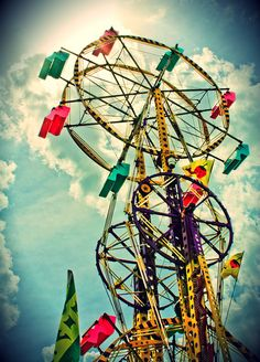 #InMyPerfectFairytale. Double Ferris wheels! <3