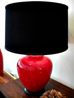 Love The Black Shade With Lipstick Red Lamp From An Orange Moon Chicago