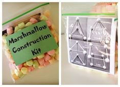 marshmallow construction kit: these would make great Christmas gifts for my son's classmates