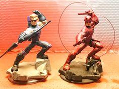 Hawkeye becomes Daredevil. Disney Marvel, Disney Pixar, Disney Infinity Characters, Marvel Infinity, Graffiti Characters, Spiderman Art, Custom Action Figures, Monsters Inc, Disney Junior