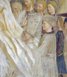 Masolino (detail)  frescoes found in the Baptistery of Castiglione Olona, in Northern Italy