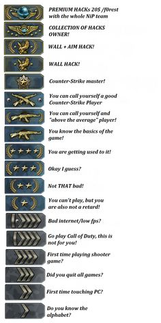 """CSGO badge levels lol mine is """"You can call yourself a good ounter-Strike Player"""""""