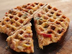 Waffle Maker Pizza recipe from Ree Drummond via Food Network Episode Dorm Room Dining