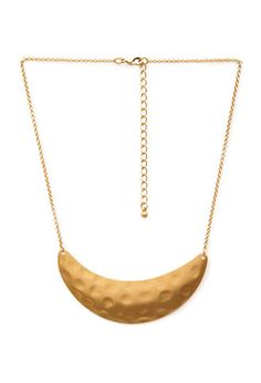 Dimpled Crescent Pendant Necklace | FOREVER 21 - 1000058782