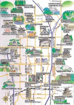 kyoto tourist attractions map pdf