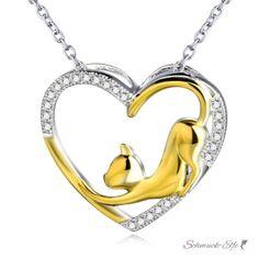 Herz Anhänger KITTY Love Zirkonias mit 18 K Gelbgold...