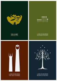 Lord of the Rings Minimalist Posters by Jamesey ( my 7 yo daughter is in love with these! -L)