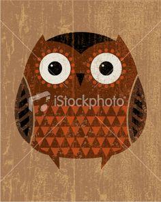 Peeling paint owl Royalty Free Stock Vector Art Illustration - just like
