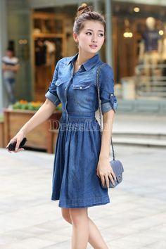 vestido Blue Dresses, Casual, Fashion, Gowns, Moda, Fasion