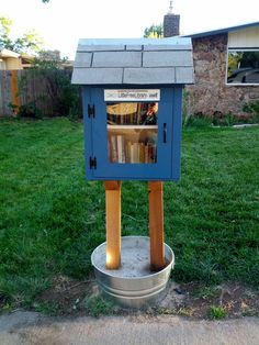 Christine Yetter. Lakewood, CO. I'm painfully shy and generally keep to myself, but I wanted to get involved with my community in some indirect way. I love to read. A Little Free Library seemed like a great idea! I built the library myself with some help from my husband using some pieces of plywood leftover from another project.