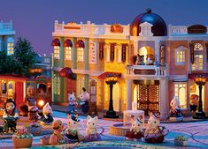 A sophisticated, stylish Town where families from Calico Village visit to shop, dine, enjoy outdoor concerts and ride the Tram! Sylvanian Families, Calico Critters Families, Little Critter, Barbie House, Magical Creatures, Disney Dream, Animal Crossing, Cosy, Family Photos