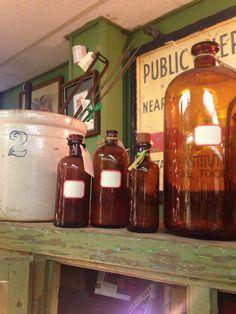 Fun collection of vintage medicine bottles