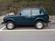 Lada Niva blue color