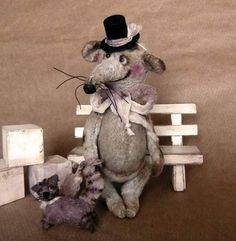 Teddy Rat Mr.Fortune and his cat by Mara+Grishina