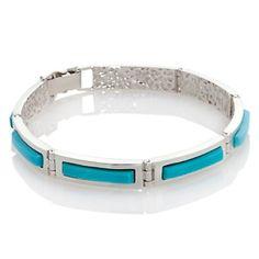 "Jay King Campitos Turquoise Sterling Silver 6-1/2"" Bracelet at HSN.com."