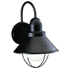 Buy the Kichler 9022 Direct. Shop for the Kichler 9022 Seaside Single Light Tall Outdoor Wall Sconce and save. Garage Lighting, Barn Lighting, Outdoor Wall Lighting, Exterior Lighting, Wall Sconce Lighting, Wall Sconces, Lighting Ideas, Gooseneck Lighting, Nautical Lighting