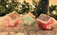 Add this precious #Crocheted Christmas Cottage to your holiday decor this year. Make a few of them to create a cute crocheted village. Add a bit fine iridescent glitter to the roof of this crochet pattern for a magical finishing touch. Embellish with white felt for the door, window shapes, and icicles.